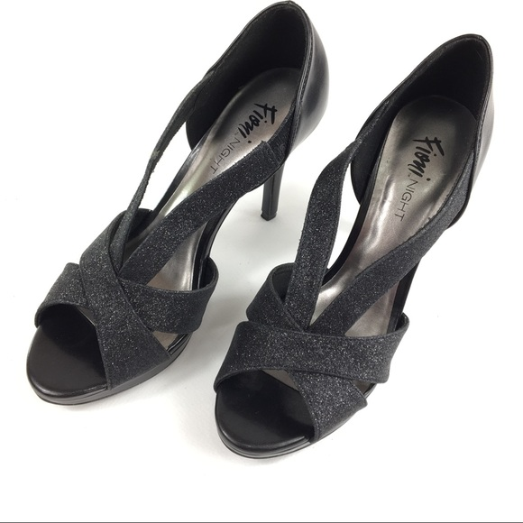 0aec8ee13b FIONI Clothing Shoes | Fioni Night Icicle Pump Peep Toe Platform 85 ...